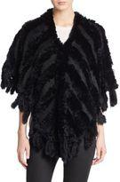 Saks Fifth Avenue Rabbit Fur Shawl