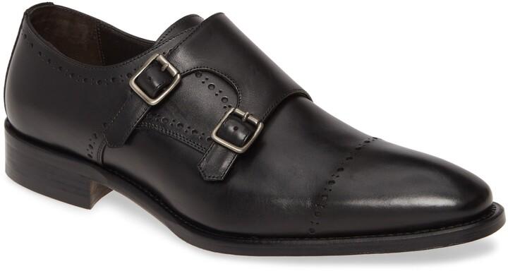 Johnston & Murphy Reece Cap Toe Double Monk Strap Shoe