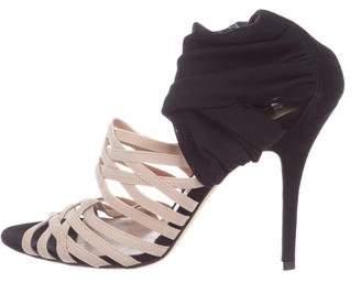 Fendi Elastic Strap Ankle Heels