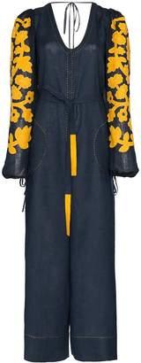 Vita Kin Peach Blossom embroidered jumpsuit