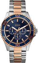 Guess Mens Multifunction Blue Tone Watch 45mm W0172G3