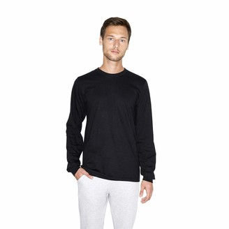 American Apparel Men's Fine Jersey Crewneck Long Sleeve T-Shirt