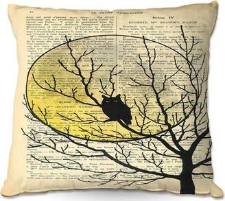 "Rhoton Couch Owl Moon Throw Pillow Ebern Designs Size: 16"" x 16"""
