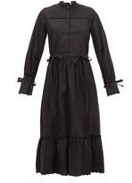 See by Chloe Scalloped-edge Cotton-poplin Shirtdress - Womens - Black