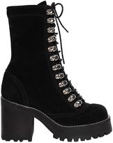Jeffrey Campbell 70mm Sequoia Lace Up Suede Boots