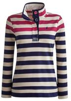 Joules Cowdray Womens Striped Sweatshirt - Dark Ruby Stripe