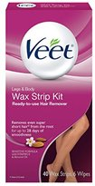 Veet Ready-to-use Wax Strip Kit, Hair Remover for Legs & Body , 40 Count