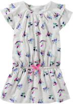 Osh Kosh Girls 4-8 Printed Short Sleeve Ruffle Tunic