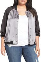 Melissa McCarthy Reversible Souvenir Bomber Jacket (Plus Size)