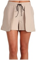 Tibi Cupro Short (Sand/Black Multi) - Apparel