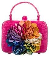 Nancy Gonzalez Floral Kaleidoscope Pink Clutch
