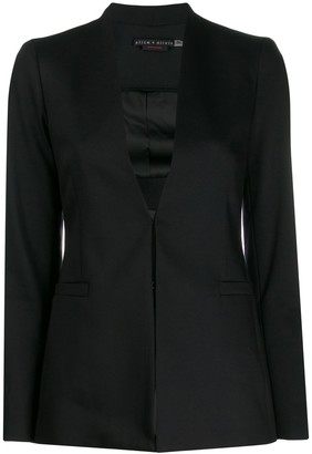 Alice + Olivia Plunging Neck Blazer