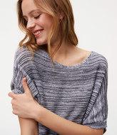 LOFT Spacedye V-Back Sweater