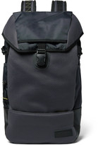 Eastpak Bust Merge Lab 2 Leather-Trimmed Canvas and Mesh Backpack