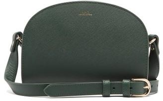 A.P.C. Half Moon Mini Leather Cross-body Bag - Dark Green