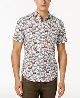 Original Penguin Men's Slim-Fit Zebra-Print Short-Sleeve Shirt