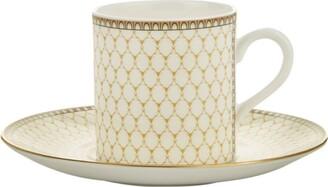 Halcyon Days Antler Trellis Espresso Cup and Saucer Set