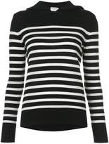 Saint Laurent striped hoodied sweater