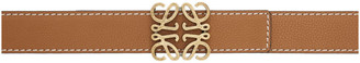 Loewe Brown Contrast Stitch Anagram Belt