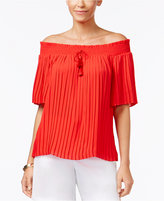 Thalia Sodi Pleated Off-The-Shoulder Top, Created for Macy's