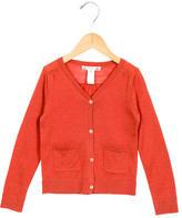 Bonpoint Girls' Wool Long Sleeve Cardigan
