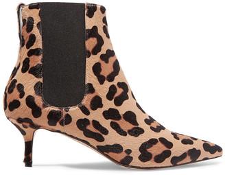 Francesco Russo Leopard-print Calf Hair Chelsea Boots