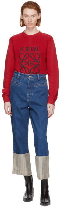 Loewe Blue Stripe Fisherman Jeans