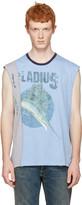 Maison Margiela Blue Pladius Layered Muscle T-shirt