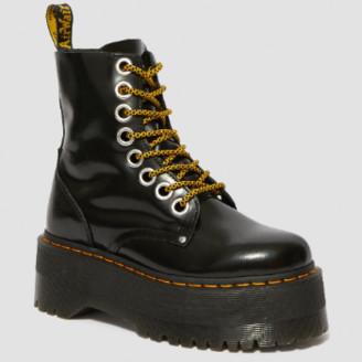 Dr. Martens Black Jadon Max Platform Boots - 36 | black | leather - Black/Black
