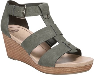 Dr. Scholl's Buckled Strappy Wedge Sandals - Barton