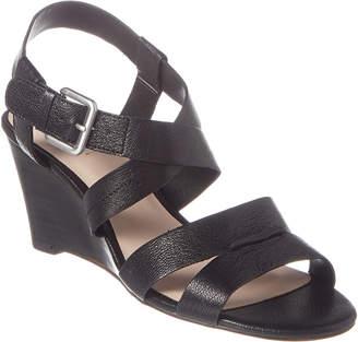Tahari Violette Leather Wedge Sandal