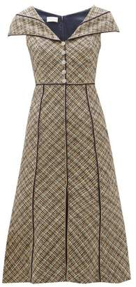 Peter Pilotto Crystal-embellished Cotton-blend Tweed Dress - Womens - Navy Multi