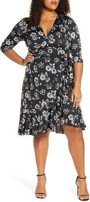 Kiyonna Flirty Flounce Wrap Dress