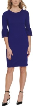 DKNY Cutout Bell-Sleeve Sweater Dress