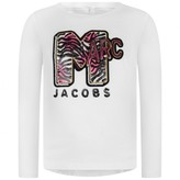 Little Marc Jacobs Little Marc JacobsGirls White Long Sleeve Jersey Top
