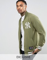 Majestic Yankees Fleece Letterman Jacket Exclusive to ASOS