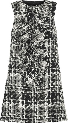 Dolce & Gabbana Ruffled Wool-blend Boucle-tweed Mini Dress