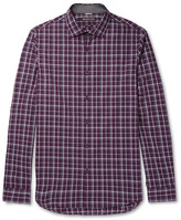 Michael Kors Slim-Fit Checked Cotton-Poplin Shirt
