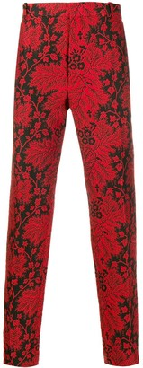 Alexander McQueen Floral Jacquard Trousers