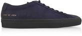 Common Projects Navy Blue Nubuck Original Achilles Low Men's Sneakers