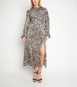 New Look Another Look Leopard Print Midi Dress