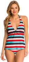 Tommy Hilfiger Swimwear Slide Stripe Halter Tankini Top 8142672