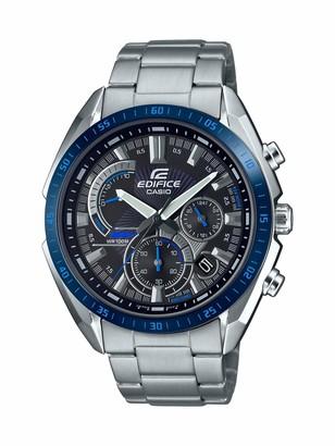 Casio Men's Edifice Quartz Stainless Steel Strap Silver 22 Casual Watch (Model: EFR-570DB-1BVCR)