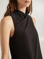 Halston Mock Neck Dress