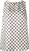 Alberto Biani printed round neck top - women - Silk - 44