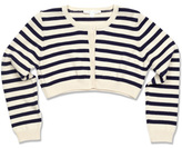 Marie Chantal Cropped Striped Cardigan