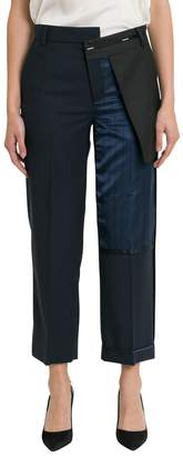 Monse Inside Out Pinstripe-detailed Wool-blend Pants