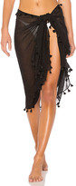 Seafolly Pom Pom Sarong in Black.