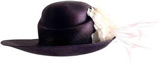 Philip Treacy Purple Wicker Hats