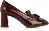 Tod's Gomma fringed patent leather pumps